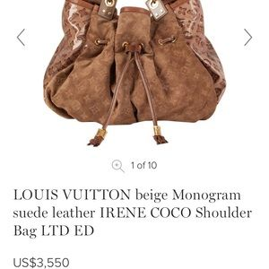 Authentic Louis Vuitton Irene Coco Limited Edition